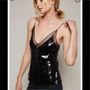 Free People Sassy in Sequins Cami